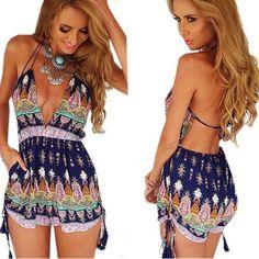 LOBTY Sommer Overall Damen sexy elegant Rückenfrei Jumpsuit kurz Kleider high waist Hosen Shorts V-Ausschnitt Beachwear Overall Sommer Damenmode hotpants damen: Amazon.de: Bekleidung