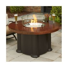 Found it at Wayfair - Colonial Fiberglass Gas Chat Fire Pit Table
