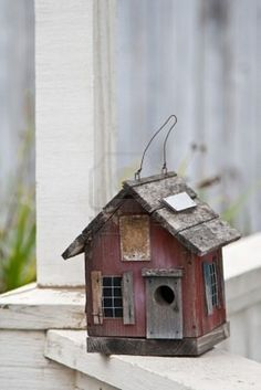 Rustic house bird house