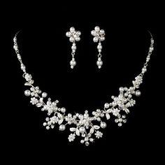 Silver White Pearl Rhinestone Flower Bridal Wedding Necklace Earring Set null,http://www.amazon.com/dp/B004NWI0U8/ref=cm_sw_r_pi_dp_uY5psb1FERBX8GE5