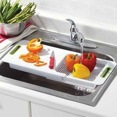 An Adjustable Over-the-Sink Cutting Board