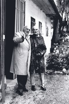 Federico Fellini with Balthus at Rossinière, Barbara Marc, 1992