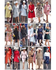 "Kate on Twitter: ""A look at the Royal ladies' outfits of the day! #Queenat90"