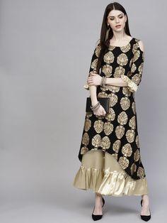 Women Indian Pakistani Party Wear Kameez Black Tunic Kurta Set Dress With Plazzo Indian Bridal Fashion, Indian Wedding Outfits, Indian Outfits, Pakistani Party Wear Dresses, Indian Dresses, Kurti Styles, Fancy Kurti, Anarkali Dress, Bollywood Fashion