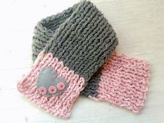 Toddler Scarf Girl Scarf Knitted Children Scarf by ZucchiniIsland, $19.00