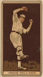 1912 Brown Backgrounds T207 #95 Harry Krause Front