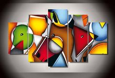 5 Piece Canvas Art, Abstract Canvas Wall Art, Wall Canvas, Face Painting Designs, Paint Designs, Horse Face, Wall Art For Sale, Art Prints, Horses