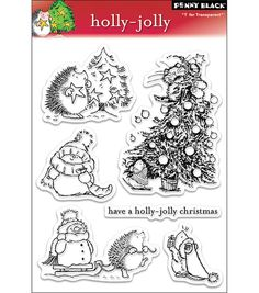 Penny Black Clear Stamps-Holly Jolly & Stamps at Joann.com $11.99