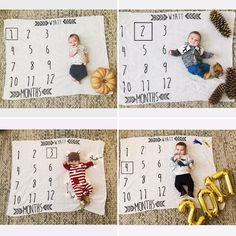 Baby Milestone tracker photos {October, November, December & January}
