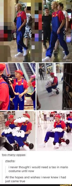 What if SeokJin sees him with a Mario costume?  He would collect him ( ͡° ͜ʖ ͡°)