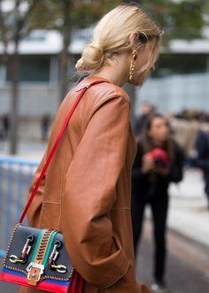 Fall Hair Inspiration-blonde hair in low bun