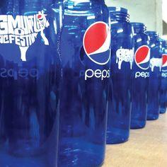 พิมพ์สกรีนกระบอกน้ำ บิ๊กเมาเท่น 2013 | Screen print Big Mountain Fest Pepsi