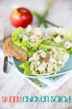 Skinny Chicken Salad, one of my go-to lunches at home!