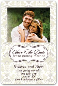 mini save the date magnets devoted magnetstreet real wedding save the date magnet