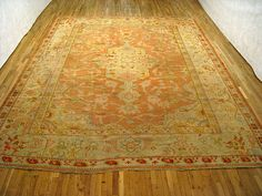 "Oushak & Turkish 14' 0"" x 11' 9"" Antique Oushak at Persian Gallery New York - Antique Decorative Carpets & Period Tapestries"