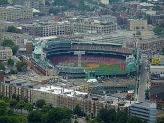 Boston's Fenway neighborhood along with Fenway Park. The Red Sox are out of town during the 4th of July, 2005
