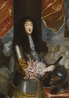"""Philippe de France, """"Monsieur"""" Duc d'Anjou puis Duc d'Orléans (1640 - 1701), frère du roi Louis XIV de France et fondateur de la Maison d'Orléans."""