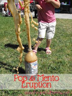 There is nothing as simple as dropping a mento into a bottle of pop. This Mentos Eruption was amazing. Entertaining to kids and adults alike.