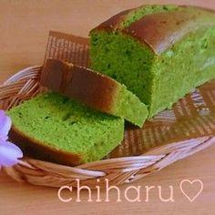 ふんわり♥しっとり♥抹茶のパウンドケーキ