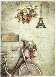Ricepaper/Decoupage paper,Scrapbooking Sheets /Craft Paper Parisian Still Life 2…