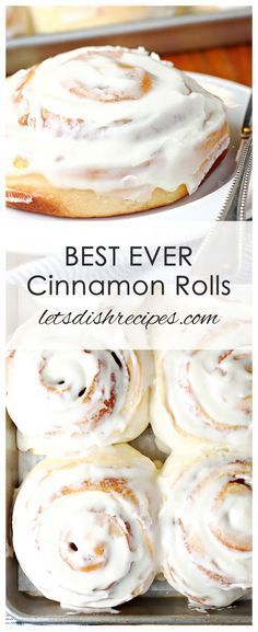 Best Ever Cinnamon Rolls Recipe Huge fluffy cinnamon rolls with maple cream cheese frosting that stay soft for days They really are the best ever! breakfast bread rolls cinnamon cinnamonrolls is part of Cinnamon rolls homemade - Just Desserts, Delicious Desserts, Dessert Recipes, Yummy Food, Breakfast Recipes, Best Cinnamon Rolls, Cinnamon Recipes, Frosting For Cinnamon Rolls, Homemade Cinnamon Rolls