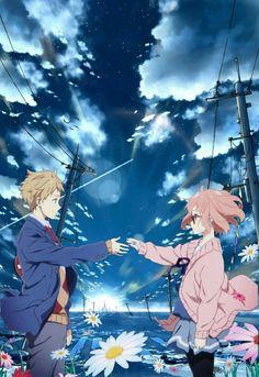 Kuriyama and Akihito - Kyoukai no Kanata Wallpapers Kawaii, Animes Wallpapers, Kawaii Anime, Otaku Anime, Anime Art, Mirai Kuriyama, Good Anime Series, Graphisches Design, Kyoto Animation