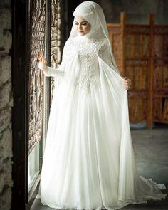 Pozlar Muslimah Wedding Dress, Muslim Wedding Dresses, Muslim Brides, Bridal Dresses, Wedding Gowns, Bridesmaid Dresses, Turban, Wedding Hijab Styles, Hijab Dress Party