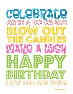 Very cute birthday printable!