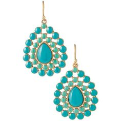 Teal chandelier earrings light images light ideas pre owned teal rhinestone tribal chandelier earrings 32 mozeypictures Images