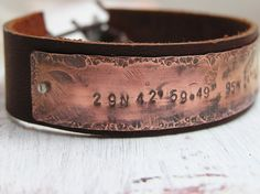 Geocache Bracelet  Latitude Longitude Hand by Impressionisms, $63.00