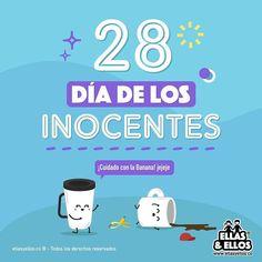 Día de los inocentes Estilo Tropical, Dic, Funny, Fictional Characters, Frases, Holidays Events, Calendar, Funny Parenting, Fantasy Characters