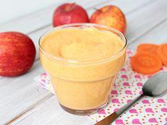 yogurt de manzana y zanahoria para bebé