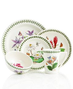 Portmeirion Dinnerware, Exotic Botanic Garden Mix and Match Collection - Casual Dinnerware - Dining & Entertaining - Macy's