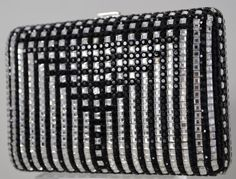 4221fe404 Judith Leiber Cocktail Minaudière Evening Bag Crystals Black Jet Silver  Vintage #JudithLeiberlieberDesignerCouture #EveningBagClutchShoulder Silver
