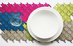 Houndstooth Table Tiles