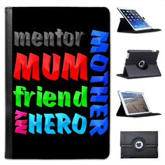 Mother mum #mentor friend my hero #birthday gift folio #leather case for ipad min,  View more on the LINK: 	http://www.zeppy.io/product/gb/2/380943752365/