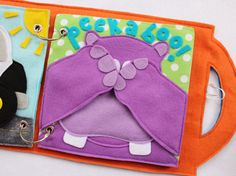 NEW Peekaboo Hand-Made Quiet Book Page by RoseInBloomCreations