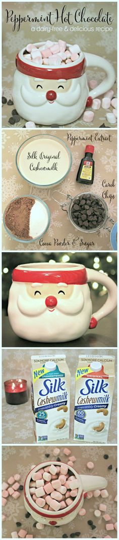 Peppermint Hot Chocolate Recipe! This recipe  is absolutely delicious, and it can easily be made with dairy-free milk! | Ashley Brooke by @ashleynicholas
