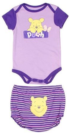 Amazon.com: Disney Newborn Baby Girls Winnie the Pooh Creeper Diaper Cover Set: Clothing