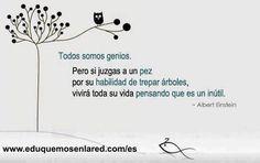 Todos somos genios (Albert Einstein)