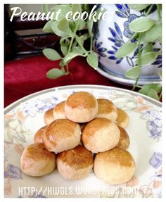Peanut cookies - #kenneth_goh  #guaishushu   #peanut_cookies   #花生饼