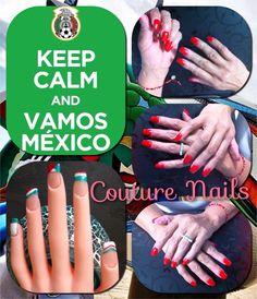 #todosjuntos #MEX #AquiEstaElTri #daretodream #Vamos #México @Selección Mexicana #Mundial2014 #Brasil #WorldCup #couture #nails #diseños #uñas