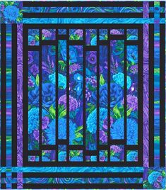 Here are 30 free patterns for Stained Glass quilts! What could be more colorful ? Stained glass quilts can be made by piecing a skinny sas...