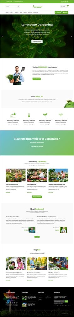Greenland is a responsive 2in1 #WordPress theme build for #Lawn Services Business, #Landscaping Companies, Groundskeepers, Landscape Architects, Gardening Business, Florists or Agriculture companies website download now➩ https://themeforest.net/item/greenland-gardening-landscaping-shop-blog-wordpress-theme/17090453?ref=Datasata