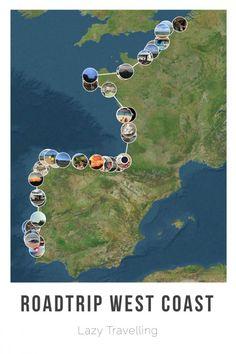 Wij vertrokken met een camper op een roadtrip langs de kust van Frankrijk, Spanj... - Amanda Ewijk Vakantie Blog Travel Camper, Travel Route, Places To Travel, Places To Visit, European Road Trip, Road Trip Europe, World Map Europe, Camping Holiday, Beautiful Places In The World