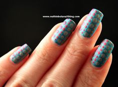 nail art with w7 nail effects