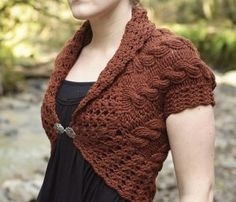 Tiny Owl Knits Patterns - Forest and Frill Shrug Pattern - Large Photo at Jimmy Beans Wool