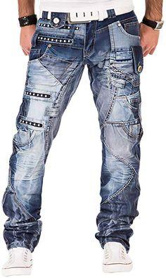 Kosmo Lupo k   m 001 Designer Clubwear Men s Jeans Style Washed Multi  Pocket W29 L32 8b8c0fe852