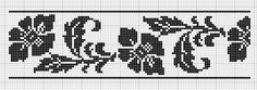 Border 01 | Free chart for cross-stitch, filet crochet | Chart for pattern - Gráfico