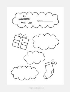 Christmas Wish List Templates Mr Printables home Pinterest